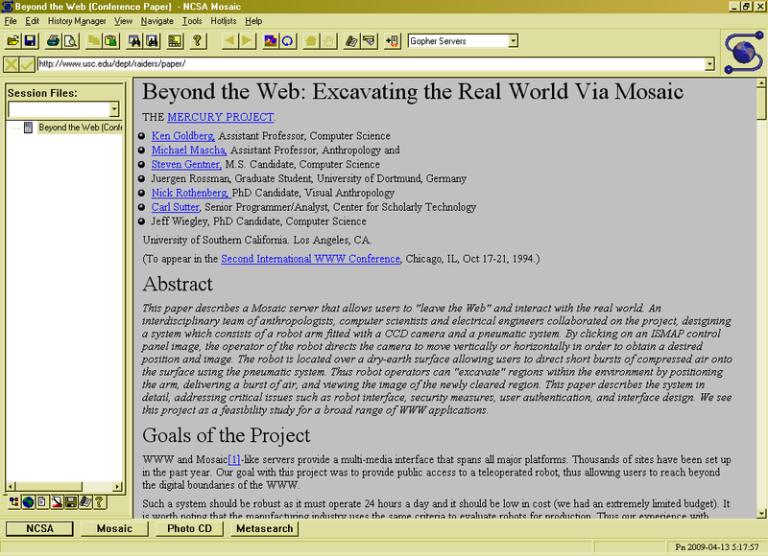 mosaic/web browser/print screen