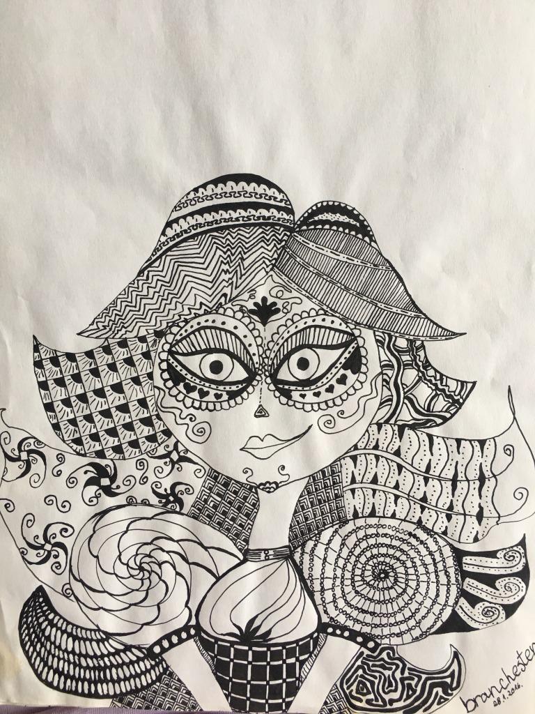 pen and ink/tus i pero/zentangle/branka prisunjak